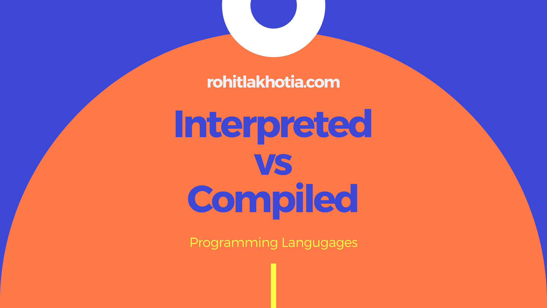 Interpreted vs. Compiled programming languages